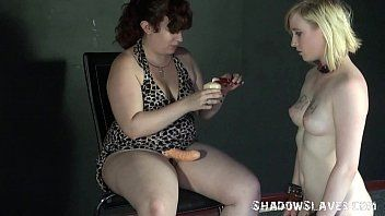 Blond satine spark in extraordinary lesbo humiliation and heartless submission