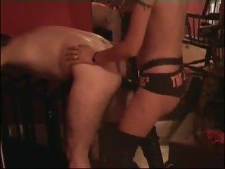 Dominant-bitch strap-on bonks homosexual tractable