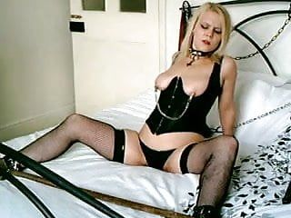 British golden-haired sub doxy handcuffed up and used