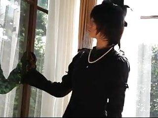 Oriental hose tease with slavery