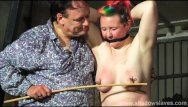 Tit whipping and hard caning of redhead non-professional sm villein bunny in unbending