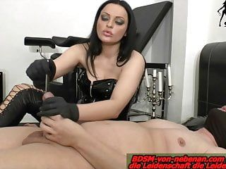 Tube and finger in dick painful from german domme punishment