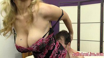 Milf julia ann teases serf with her feet