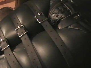 The leather female-dominator - leather thraldom - teat castigation