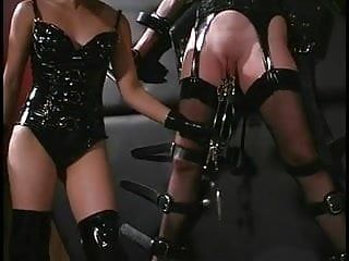 Oriental mistress playing with the slaves bawdy cleft