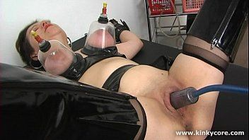 Drilled love button and squirting big o