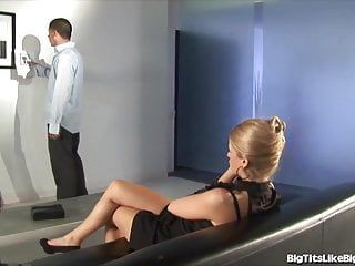 Breasty blond screwed in an tentacle gallery