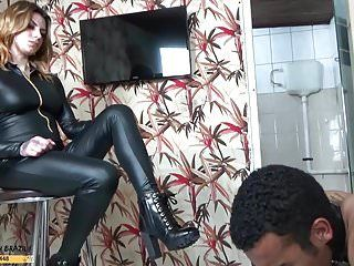 Female domination flogging throne room humiliation by mrs redhead