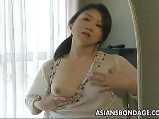 Breasty japanese girl acquires fastened and pumped hard