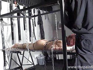 Redhead non-professional slavegirl bembys metal slavery lowered