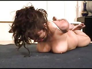 Hogtied bare hotty drools