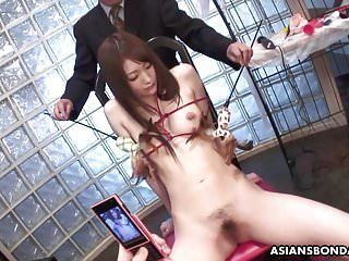 Masked boys have pleasure with fastened up asians sensitive teats