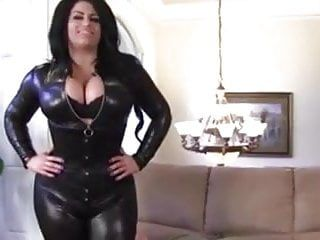 Large mambos samantha leather catsuite facesitting