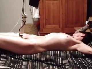 Bound up hands free orgasm. wf
