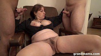 Bossy grandma and the 2 loyal slaves