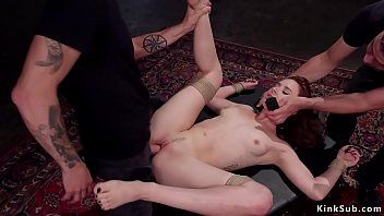 Upside down suspended hottie drilled