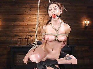 Squirting and bondage, oriental honey