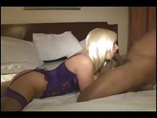 Funlady - blond and gangbanged hard from behind