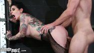Joannaangel slaying a-hole in fishnets