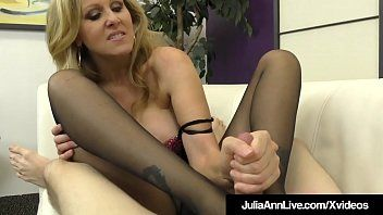 Breasty golden-haired milf julia ann foot bonks a hard bondman penis