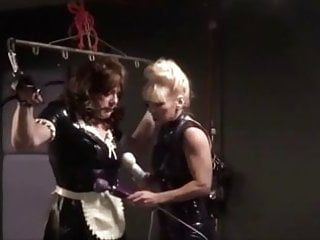 Angelica suspended dong teased by madame cs hitachi wands