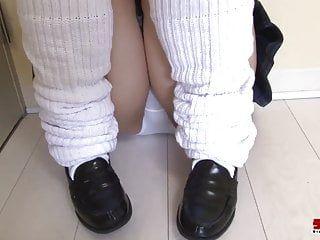 Nn japenese schoolgirl-white pants 01