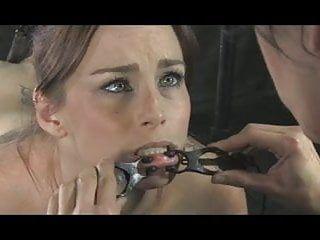 Lesbo serf bella handcuffed in