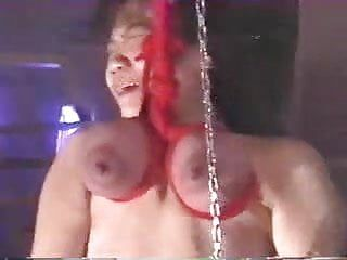 Japanese angel is brutally tortured suspended by her breast