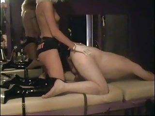 Goddess strap-on copulates homo in dungeon