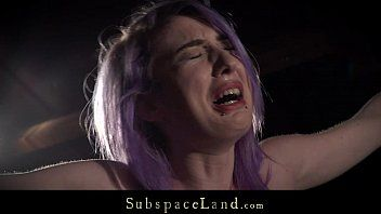 Purple hair villein coarse spanked and dominated in hardcore fetish