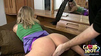 Spanked wife receives her wazoo red by dilettante bff