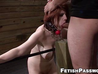 Velma dearmond bound up for sloppy deepthroat and drilling