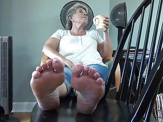Ticklish older feet