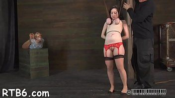 Slavemaster is torturing sweethearts love tunnel