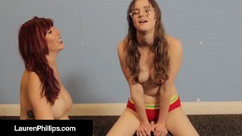 Ginger pale skinned lauren phillips bonks a wang machine