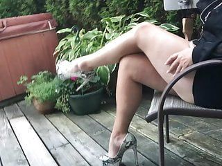 Heels and sexy hot lengthy legs