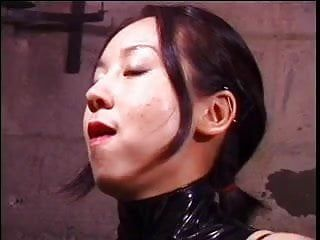 Cute oriental mastix whips sex serf in thraldom basement