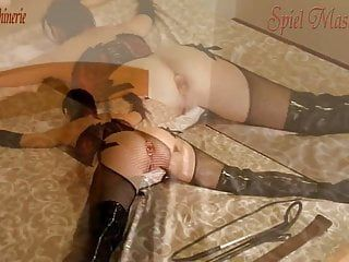 Hard whipping strapping widen eagle plugged and gagged bitch