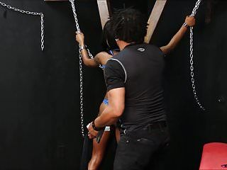 Dark bondman harmonys darksome thrashing and fastened up whipping