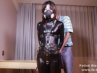 Fx-tube.com catsuit hotty is gag in a multiformity of ways