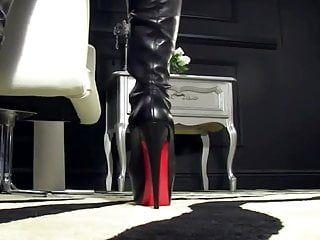 Below fresh boots