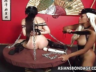 Oriental breasty brunette hair has a fastened up sex session