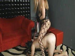 Mistresse rides her serf