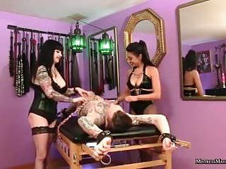 Mistresses tickle gay bondman in thraldom