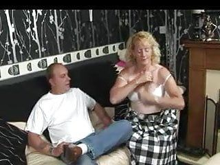 Blond tart caned