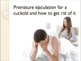 Premature jizz flow for a cuckold caption