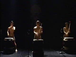 Japenese in natures garb drummers