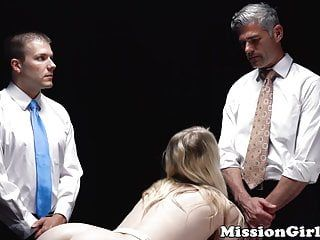 Fearful mormon playgirl double screwed hard by 2 perverts