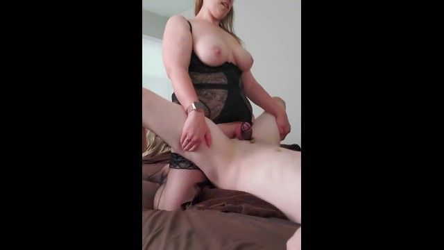 Femdom wife pegging her obedient spouse in sissy training