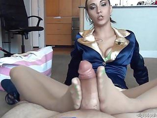 Sasha foxxx footjob in bare hose
